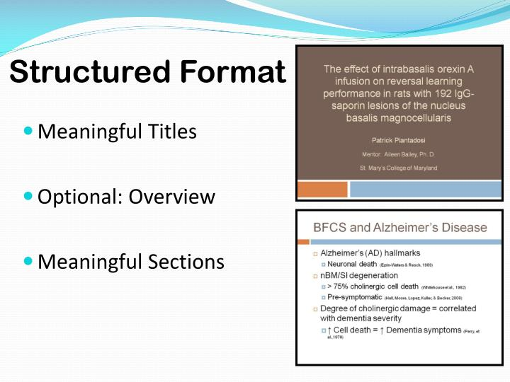 Structured Format