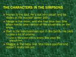 the characters in the simpsons