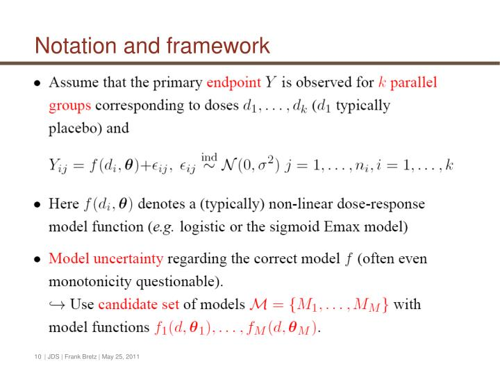 Notation and framework