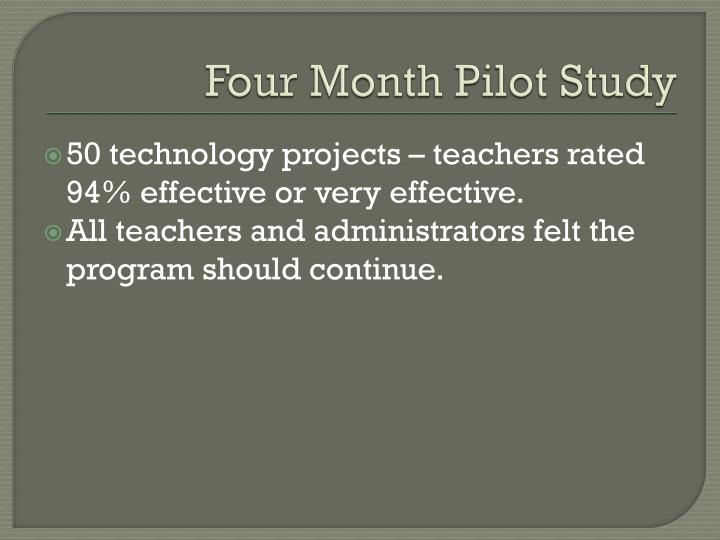 Four Month Pilot Study