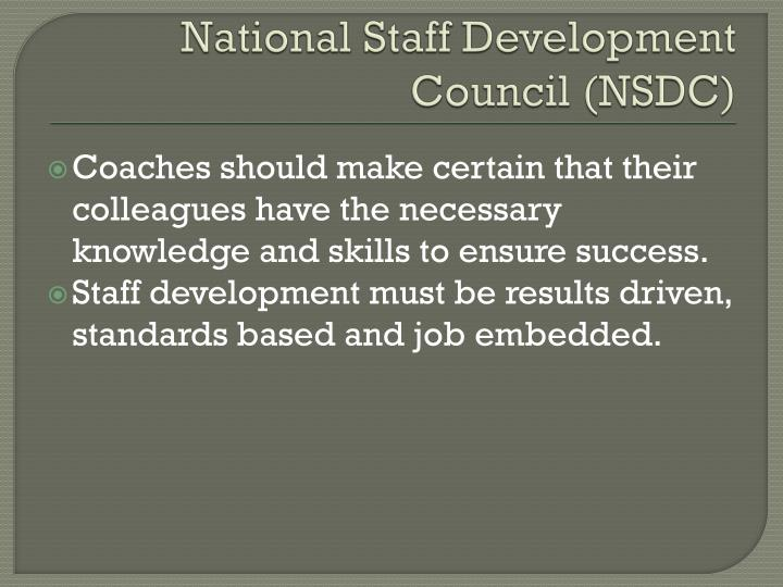 National Staff Development Council (NSDC)