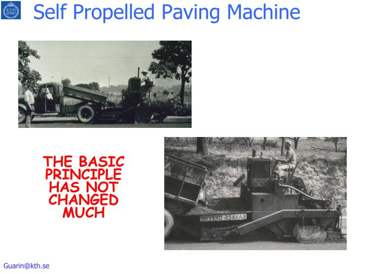 Self Propelled Paving Machine
