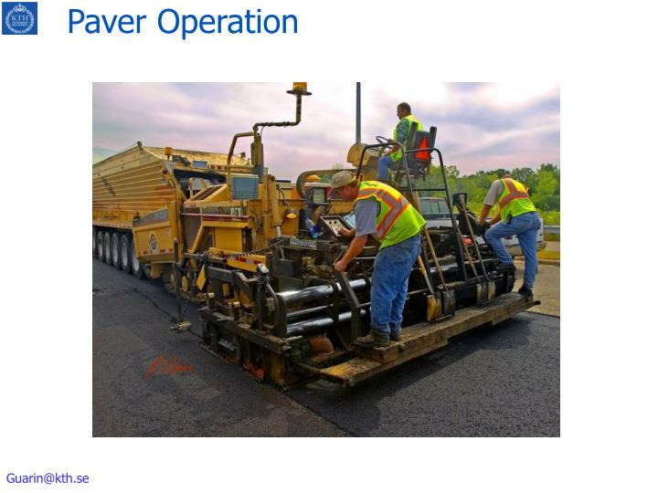 Paver Operation