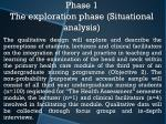 phase 1 the exploration phase situational analysis1