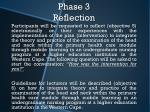phase 3 reflection