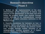 research objectives phase 3