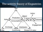 the activity theory of engestr m
