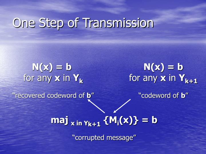 One Step of Transmission