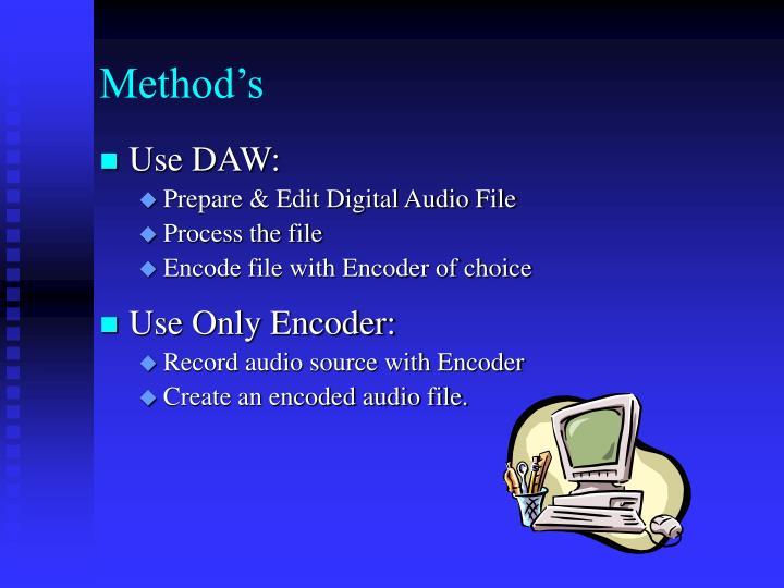 Method's