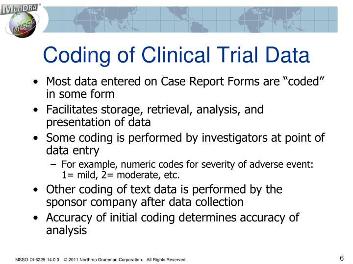 Coding of Clinical Trial Data