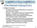 fda defined coding errors