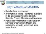 key features of meddra