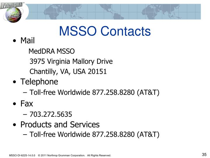 MSSO Contacts