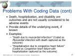 problems with coding data cont2