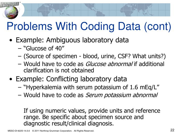 Problems With Coding Data (cont)