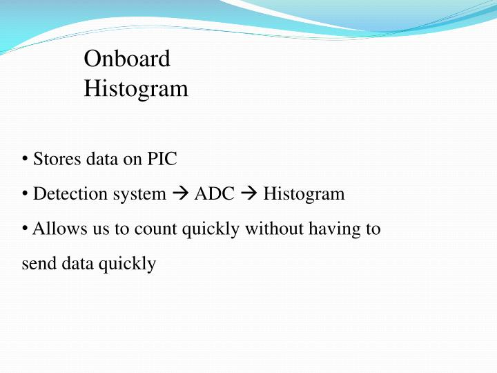Onboard Histogram