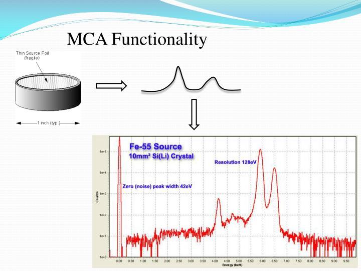 MCA Functionality
