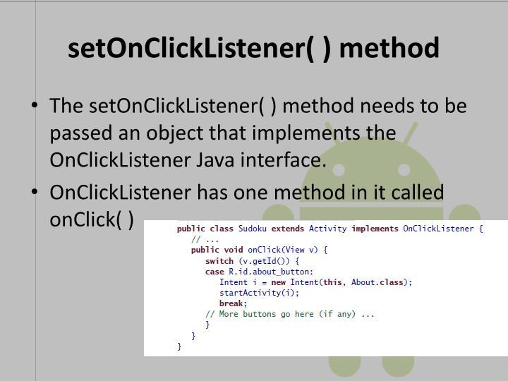setOnClickListener