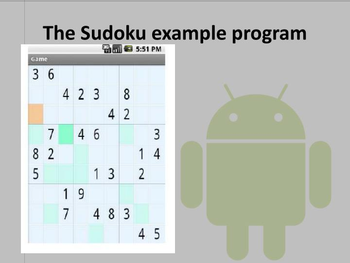 The Sudoku example