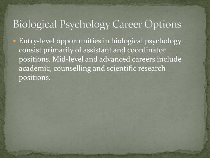 Biological Psychology Career Options