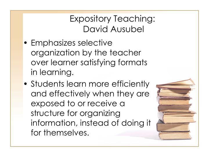 Expository Teaching: