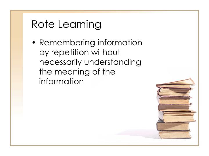 Rote Learning