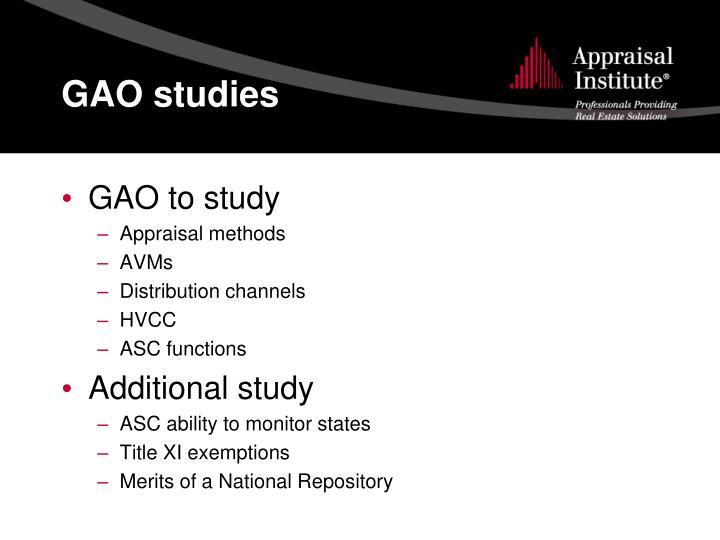 GAO studies