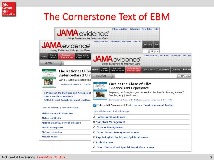 The Cornerstone Text of EBM