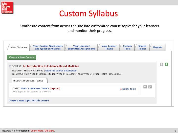 Custom Syllabus