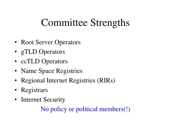 Committee Strengths