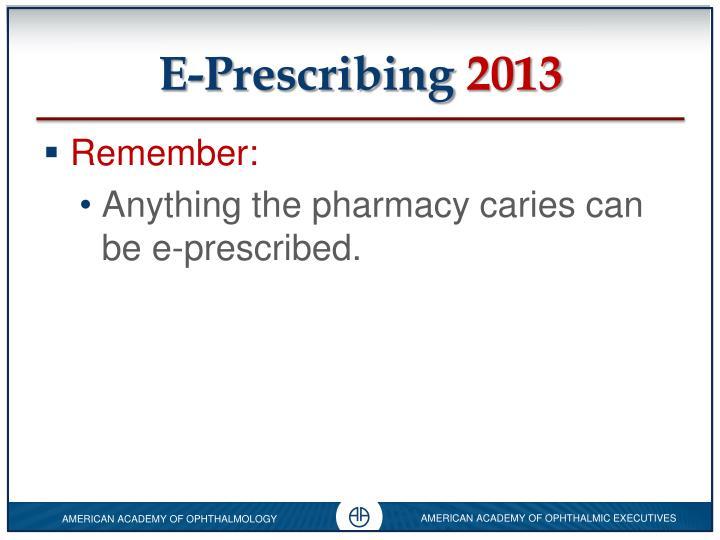 E-Prescribing