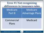 error 1 not recognizing differences in insurance rules