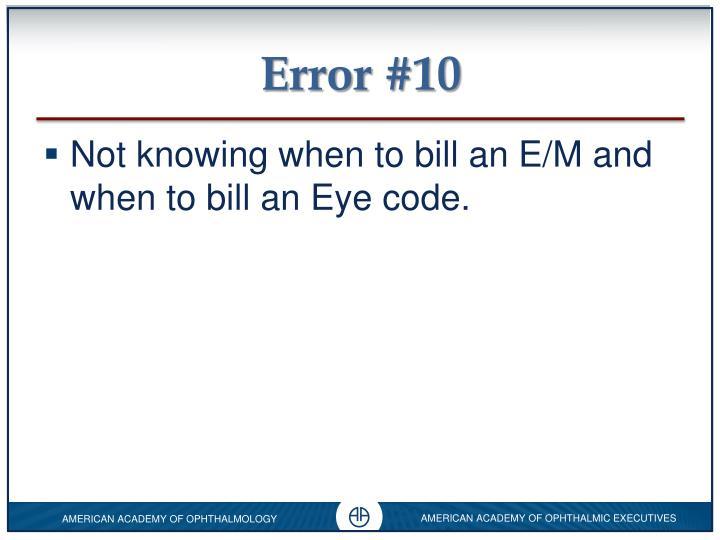 Error #10