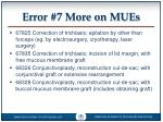 error 7 more on mues1