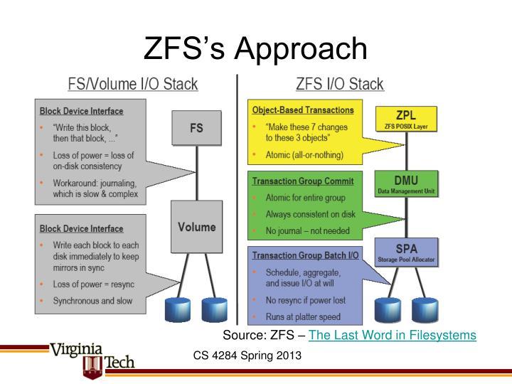 ZFS's Approach
