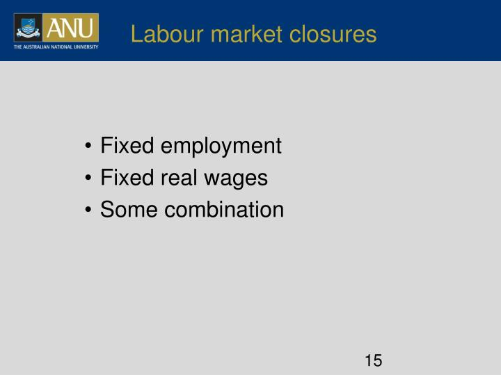 Labour market closures