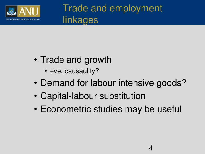 Trade and employment linkages
