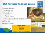 epa pesticide product labels