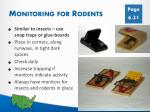 monitoring for rodents