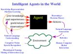 intelligent agents in the world