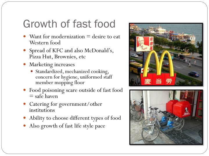 Growth of fast food