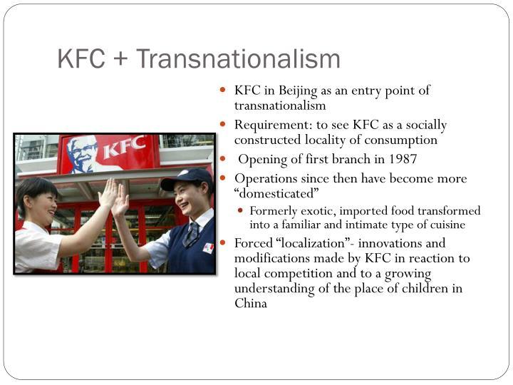 KFC + Transnationalism