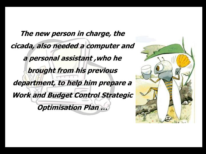 The new person in charge,
