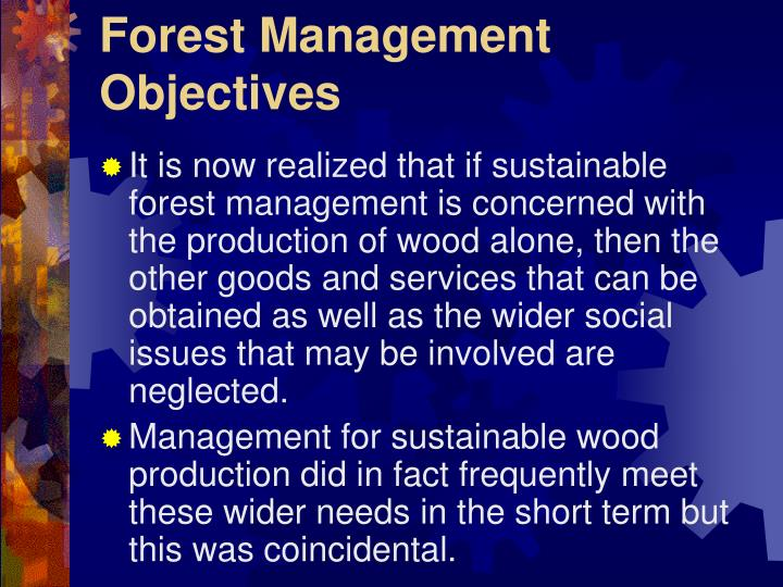 Forest Management Objectives