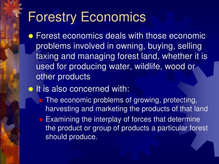 Forestry Economics