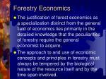 forestry economics1
