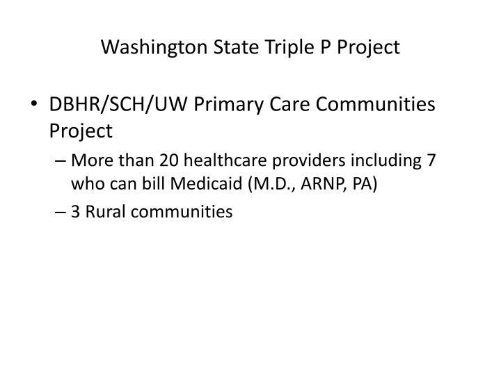 Washington State Triple P Project