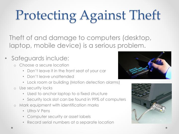 Protecting a gainst theft
