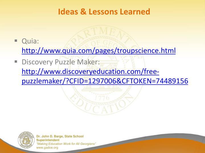 Ideas &