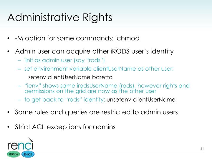 Administrative Rights